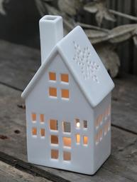 Ljushus huslykta vit porslin med belysning chic antique shabby chic lantlig stil