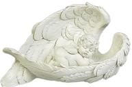 Ängel i vinge vit till höger  shabby chic lantlig stil