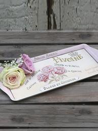 Bricka Rose - Chic Antique shabby chic lantlig stil fransk lantstil