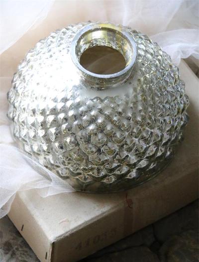 Lampskärm skärm lampa kotte i fattigmanssilver