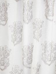Gardinlängder vita linne-beige änglar shabby chic, lantlig stil