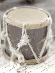 Trumma liten i trä antik stil shabby chic lantlig stil