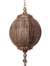 Rund stor antikguld guld taklampa bollampa orient genombrutet spetsmönster