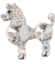 Brosch antiksilver-färg vintage-stil hund pudel shabby chic lantlig stil