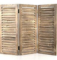 Fönsterluckor jalusi brun trä shabby chic lantlig stil