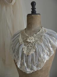 Romantisk krage spets vintage choice 2 sorter Jeanne darc Living shabby chic lantlig stil