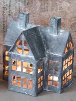 Zinkhus ljushus med torn, hus i zink Tornhus shabby chic, lantlig stil