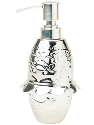 Hamrad silverfärgad tvålpump från Lisbeth Dahl.