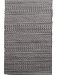 Grå ljusgrå matta bomull bomullsmatta mönstervävd lantlig stil