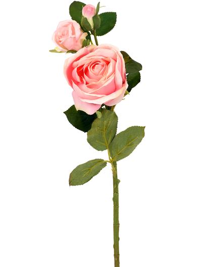 Rosa stor ros konstväxt shabby chic lantlig stil