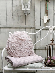 Överkast pläd puderrosa Chic Antique shabby chic lantlig stil fransk lantstil