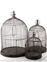 Antik behandlad fågelbur 3 storlekar shabby chic lantlig stil