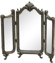 Bordsspegel 3 delad spegel silver-färgad metall romantisk fransk shabby chic lantlig stil