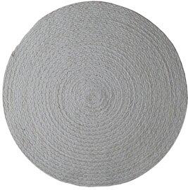 Bordstablett underlägg rund vit jute shabby chic lantlig stil