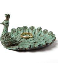 Smyckeshållare Påfågel vintage metall shabby chic lantlig stil