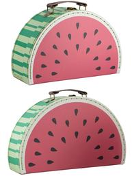 2 set väska Melon resväska shabby chic lantlig stil