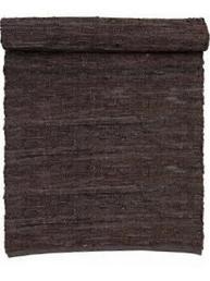 Matta i svart läder 2 storlekar
