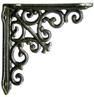 Konsoll snirklig svart gjutjärn 10 cm shabby chic lantlig stil