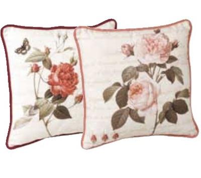 Kudde rosor blomma fransk lantstil shabby chic lantlig stil