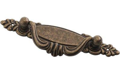 Handtag antik-patinerat mässingfärgat draghandtag shabby chic lantlig stil