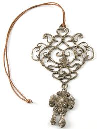 Dekorations Smycke Fleur de Lys rostbrun shabby chic lantlig stil