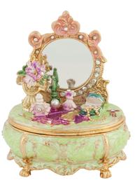 Romantisk smyckesskrin sminkbord shabby chic lantlig stil