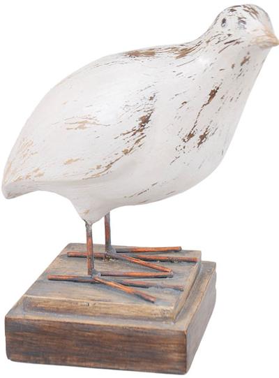 Fågel vit nr 2 shabby chic lantlig stil