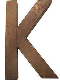 K - rostig i plåt 30 / 50cm