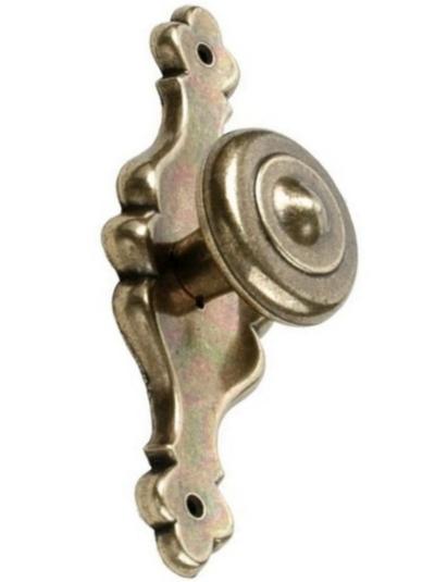 Knopp Antik mässing färgad med bricka ornament shabby chic lantlig stil