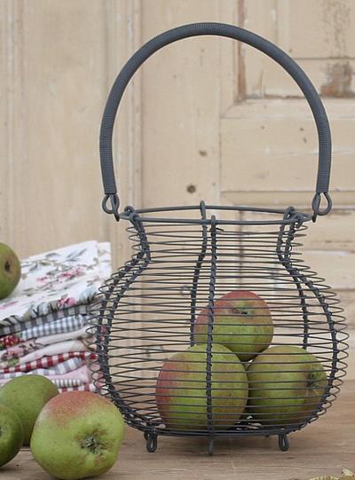 Äggkorg luffarslöjd shabby chic lantlig stil fransk lantstil