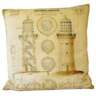 Kuddfodral Van Asch Vintage Clarence Light House  shabby chic lantlig stil