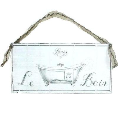 Skylt i plåt för badrum Paris Le Bain