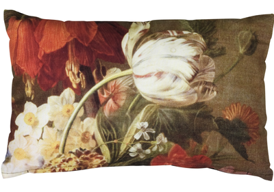 Fransk kudde avlång Stilleben Tulpan Liljor shabby chic lantlig stil