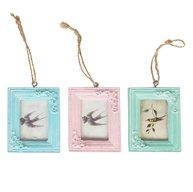 Fotoram mini ljusblå rosa turkos shabby chic lantlig stil
