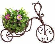 Cykel i smide med krukhållare för trädgården shabby chic lantlig stil