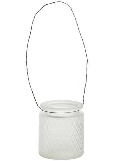 Hänglykta frostat glas facet mönstrad shabby chic lantlig stil
