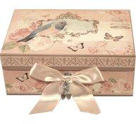 Smyckeskrin rosa rosor smyckesförvaring romantisk shabby chic rosmotiv