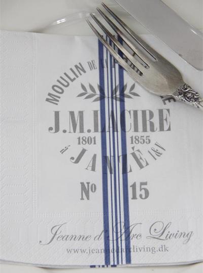 Servetter J.M. Lacire Jeanne d´Arc Living shabby chic lantlig stil