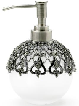 Tvålpump silver kristall