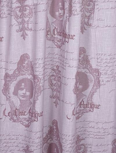 Hissgardin Chic Antique rosa shabby chic lantlig stil fransk lantstil