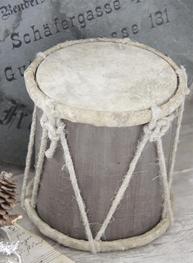 Trumma i trä antik stil shabby chic lantlig stil