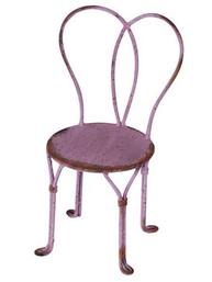 Stol cafestol mini rosa fransk i metall shabby chic lantlig stil