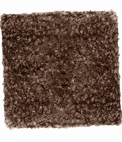 Kuddfodral päls brun shabby chic lantlig stil