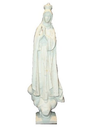 Stor madonna i antikvitt gjutjärn