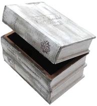 Bokask boklåda bokgömma gammeldags boktrave shabby chic lantlig stil