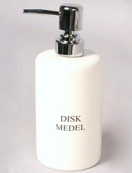 Diskmedelspump i vitt porslin diskmedel pump