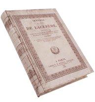 Bokask boklåda bokgömma gammal antik-vit vit fransk bok shabby chic lantlig stil
