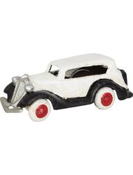 "Vit liten ""Ford"" bil leksak i gjutjärn shabby chic lantlig stil"