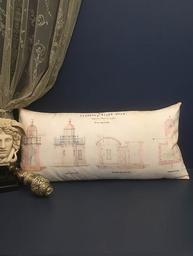 Kuddfodral Van Asch Vintage Clarence Light House Long shabby chic lantlig stil