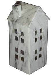 Ljushus huslykta stort hus vit marmorerad keramik shabby chic lantlig stil